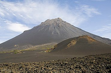 The volcano of Pico de Fogo in the background, Fogo (Fire), Cape Verde Islands, Africa