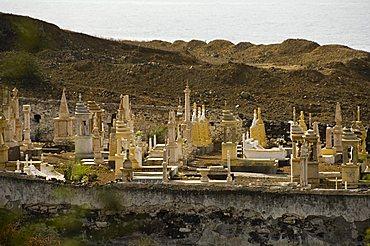 The White Cemetery, Sao Filipe, Fogo (Fire), Cape Verde Islands, Africa