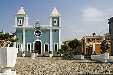 Roman Catholic church, Sao Filipe, Fogo (Fire), Cape Verde Islands, Africa