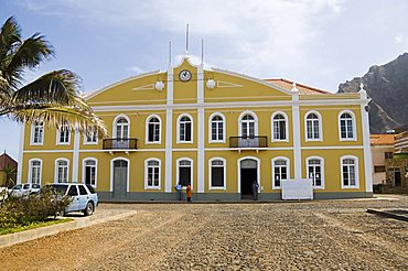 Beautifully restored municipal colonial building, Ponto do Sol, Ribiera Grande, Santo Antao, Cape Verde Islands, Africa