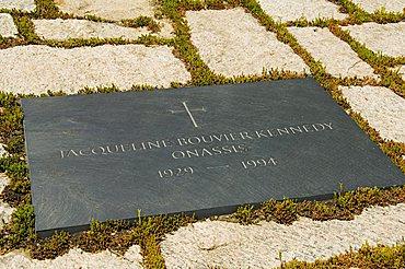 Tomb of Jackie Kennedy Onassis at Arlington National Cemetery, Arlington, Virginia, United States of America, North America