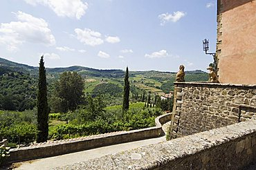 The Villa Vignamaggio, used in film Much Ado About Nothing, a wine producer whose wines were the first to be called Chianti, near Greve, Chianti, Tuscany, Italy, Europe