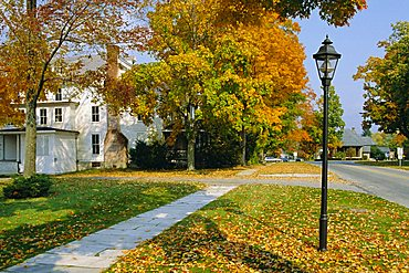 Manchester, Vermont, known for it's marble sidewalks, one of Americas oldest resorts