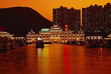 Floating restaurants at Aberdeen, Hong Kong, China, Asia
