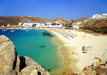 Beach, Plati Yialos, Mykonos, Greece