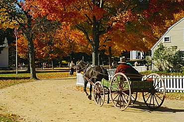 Old Sturbridge Village, a history museum recreating 1830's life, Massachusetts, USA