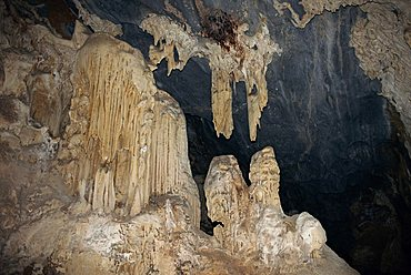 Rock formations in the interior of the Cango Caves, near Oudtshoorn, South Africa, Africa