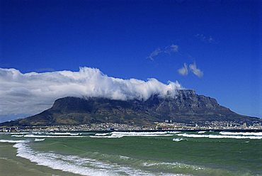 Table Mountain viewed from Bloubergstrand, Cape Town, South Africa