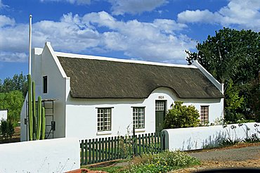 Cape Dutch architecture, Swellendam, on the Garden Route, South Africa, Africa