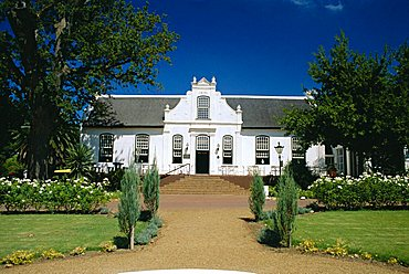 Cape Dutch architecture, early 19th c. Neethlingshof Wine Estate, Stellenbosch, South Africa