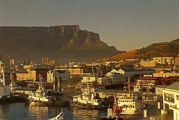 The V & A. waterfront with Table Mountain, Cape Town, South Africa