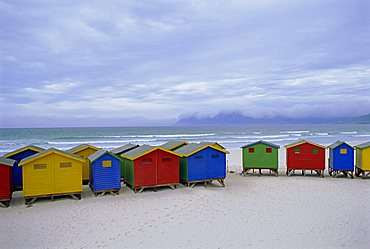 Beach huts, Muizenberg, near Cape Town, Cape Peninsula, South Africa