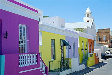 House in the Bo-Kaap (Malay Quarter), Cape Town, Cape Province, South Africa