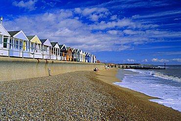 Beach huts, Southwold, Suffolk, England, UK, Europe