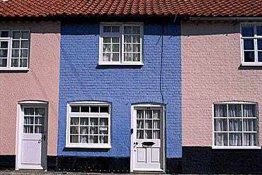 Cottages, Southwold, Suffolk, England, United Kingdom, Europe