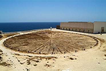 Rosa dos Ventos, wind rose or wind compass, Fortaleza de Sagres, Algarve, Cape St. Vincent, Portugal