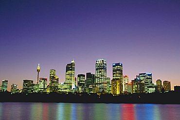 City skyline at night, Sydney, New South Wales, Australia