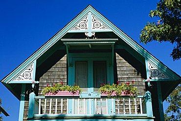 Cottage City, 19th c. cottage, Oak Bluffs, Martha's Vineyard, Cape Cod, Massachusetts, USA
