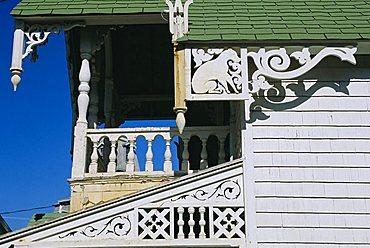 Cottage City, 19th c cottages, Oak Bluffs, Martha's Vineyard, Cape Cod, Massachusetts, USA