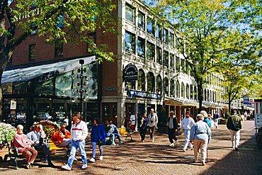 Pedestrian precinct near Faneuil Hall, Boston, Massachusetts, USA