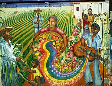 Murals on Balmy Street, San Francisco, California, United States of America, North America
