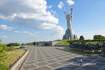Rodina Mat (The Motherland Monument) and The National Museum of the History of the Great Patriotic War 1941-1945, Kiev, Ukraine, Europe