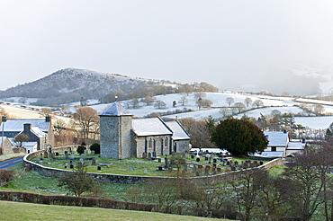 St. David's Church, Llanddewi'r Cwm, Powys, Wales, United Kingdom, Europe