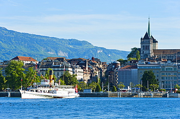 Steamboat, Lake Geneva, Geneva, Switzerland, Europe