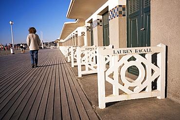 Planches (boardwalks), Pompeian baths, Deauville, Basse Normandie (Normandy), France, Europe