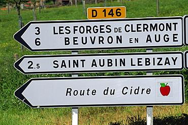 Route du Cidre (Cider Route), Auge Valley, Normandy, France, Europe