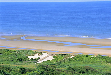 Omaha Beach (D-Day WWII), Colleville-sur-Mer, Calvados, Normandy, France