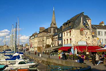 Naval Museum in the ancient Saint Etienne church, on the quay along the Vieux Bassin, Honfleur, Calvados, Normandy, France