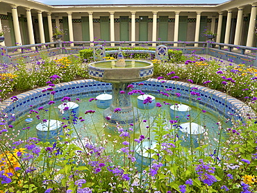 The Pompeian Baths and their basins, Deauville, Calvados, Normandy, France, Europe