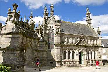 Ossuary, St. Thegonnec parish enclosure dating from 1610,  Leon, Finistere, Brittany, France, Europe