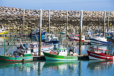 Harbour boats, Saint Quay Portrieux, Cotes d'Armor, Brittany, France, Europe
