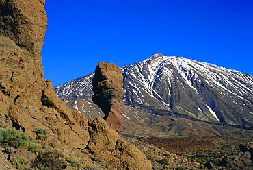 Mount Teide and Las Roques, Tenerife, Canary Islands, Spain