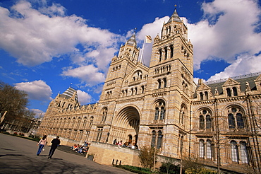Entrance to the Natural History Museum, South Kensington, London, England, United Kingdom, Europe