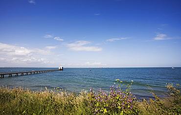 The Pier leading to Lifeboat Station, Bembridge, Isle of Wight, England, United Kingdom, Europe