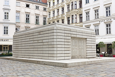 Sculpture by Rachel Whiteread, Jewish Holocaust Memorial, Judenplatz, Vienna, Austria, Europe