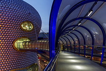 The passageway Selfridges at dusk Birmingham, West Midlands, England, United Kingdom, Europe