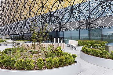 Garden Terrace, new Library of Birmingham, Centenary Square, Birmingham, West Midlands, England, United Kingdom, Europe