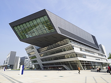 Library and Learning Centre, designed by Zaha Hadid,  University of Economics and Business, Vienna, Austria, Europe