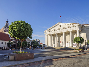 Town Hall and Square, Vilnius, Lithuania, Baltic States, Europe