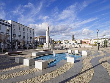 Square of the Republic, Tavira, Algarve, Portugal, Europe