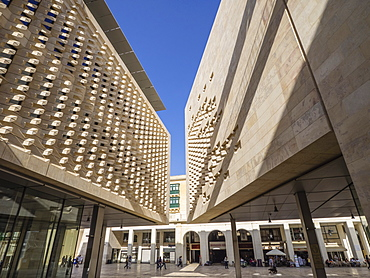 The new Parliament Building designed by Renzo Piano, Valletta, Malta, Europe