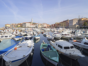 The harbour, Rovinj, Istria, Croatia, Europe