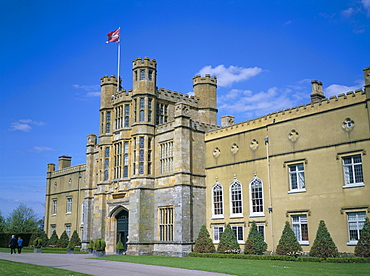 West front of Coughton Court, owned by National Trust, Coughton, Warwickshire, England, United Kingdom, Europe