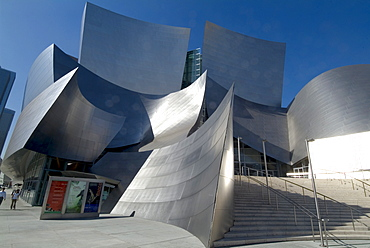 Walt Disney Concert Hall, part of Los Angeles Music Center, Frank Gehry architect, downtown, Los Angeles, California, United States of America, North America