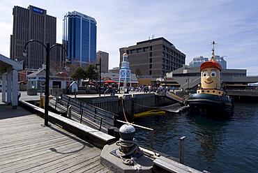 Harbour Walk, with Theodore the Tug, Halifax, Nova Scotia, Canada, North America