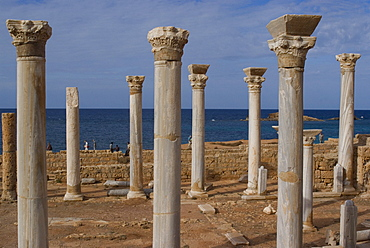Central Church, late Roman site of Apollonia, Libya, North Africa, Africa